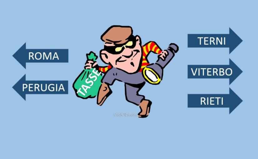 Il furto delle tasse verso Roma e Perugia